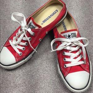 Red converse women